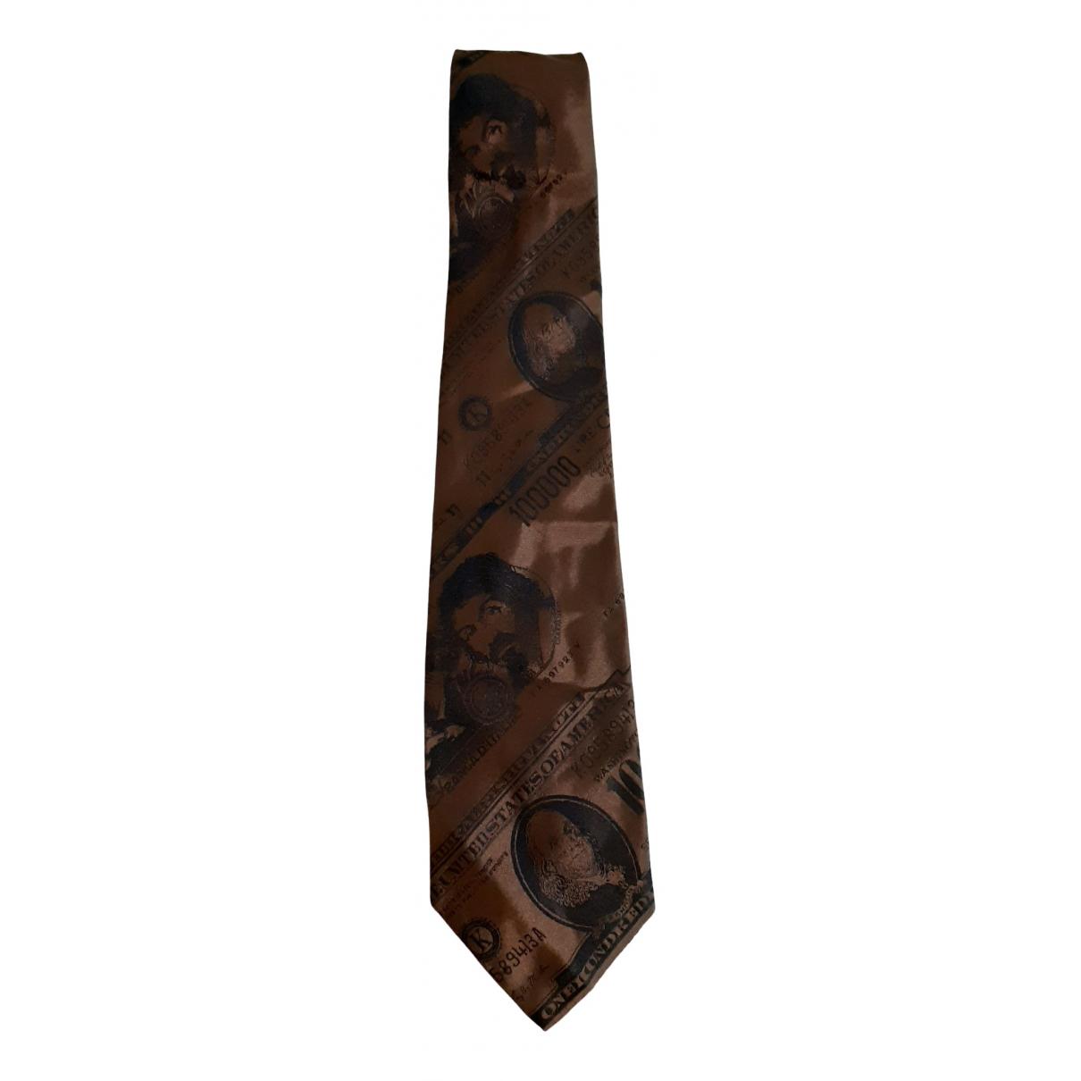 Moschino \N Krawatten in  Braun Seide