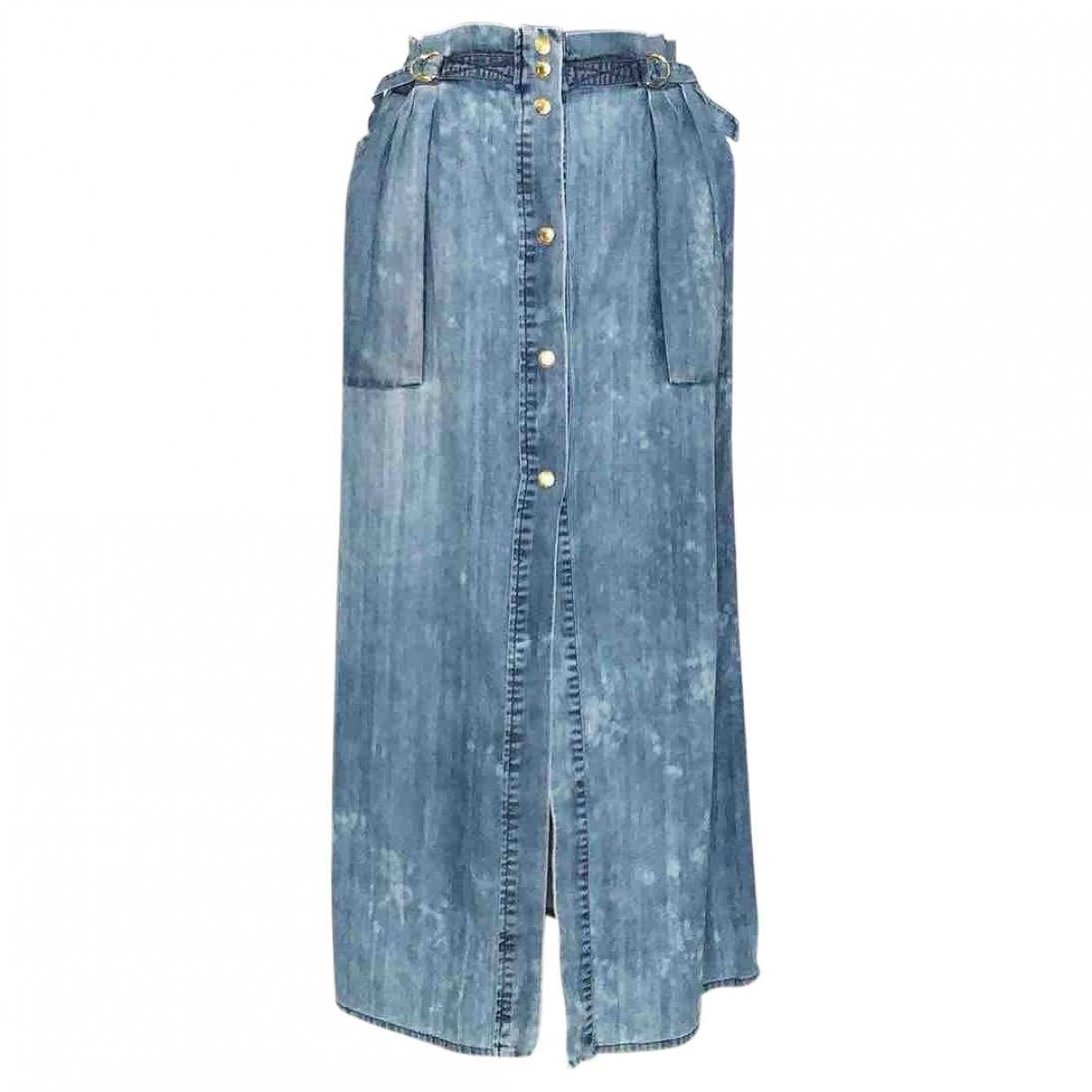 Pierre Balmain \N Blue Cotton skirt for Women 40 IT