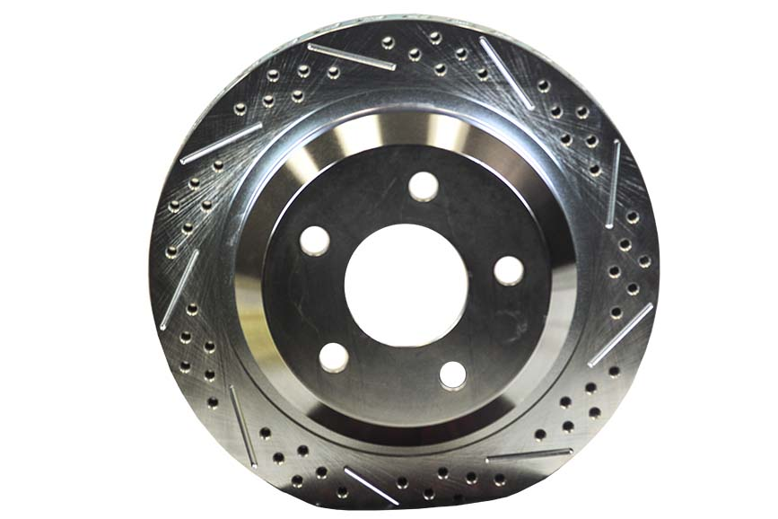 Baer Brakes Rear Rotor Replacement 12 Inch Slot Drill W/Zinc Drivers Side