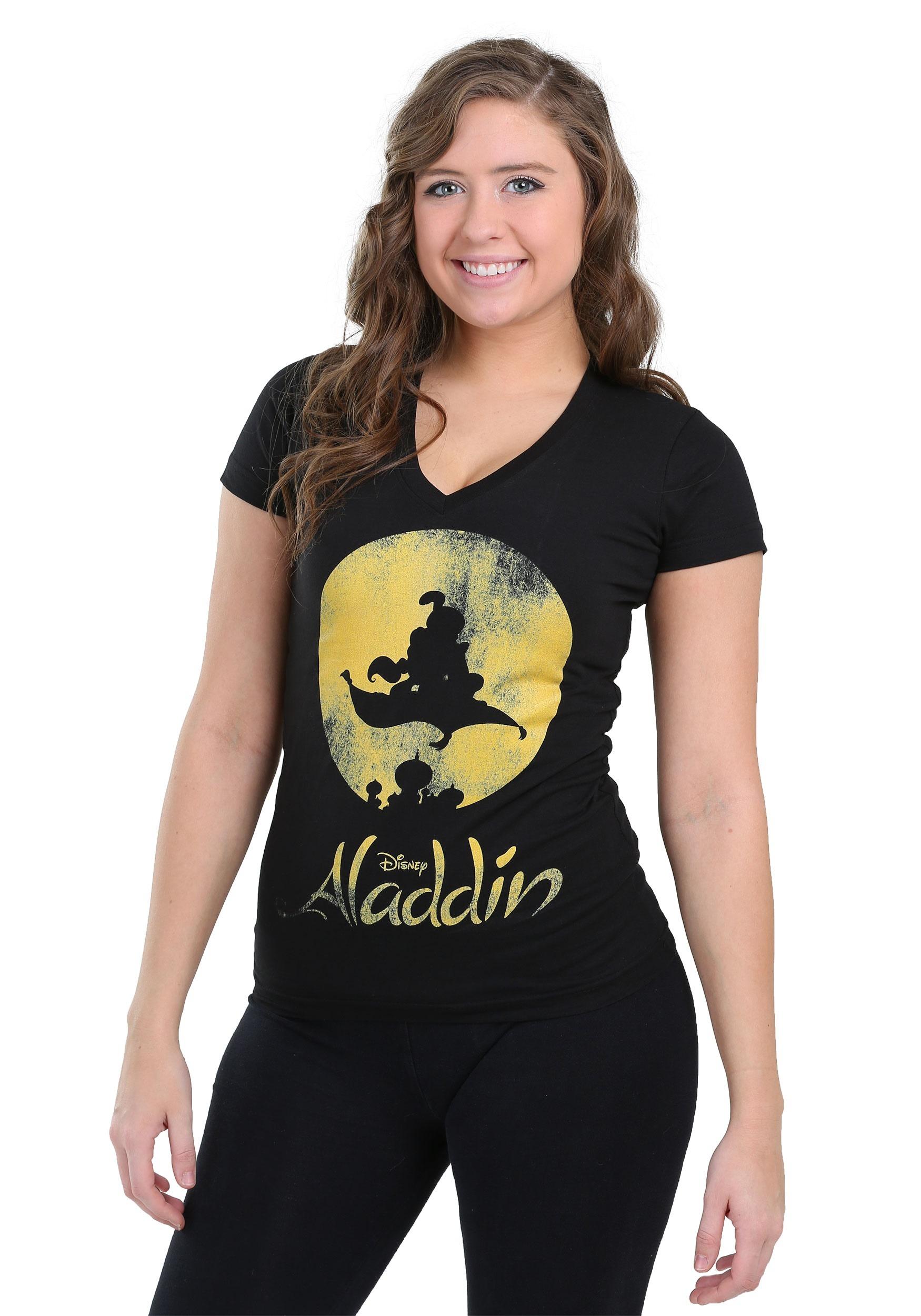 New World Aladdin Womens V-Neck T-Shirt