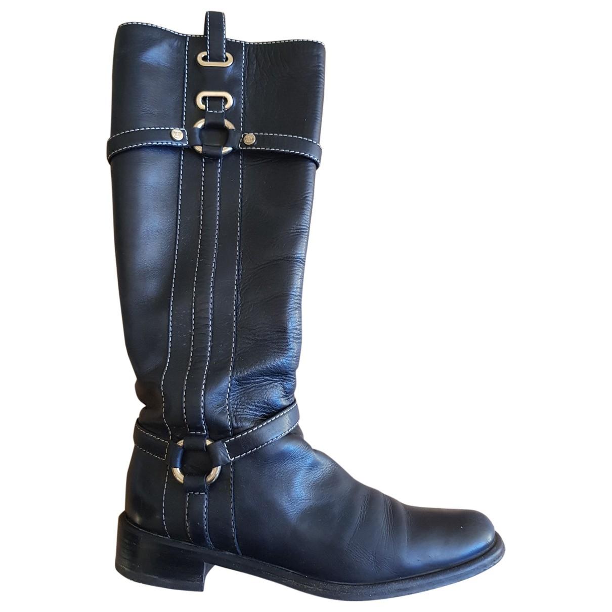 Celine \N Black Leather Boots for Women 37 EU