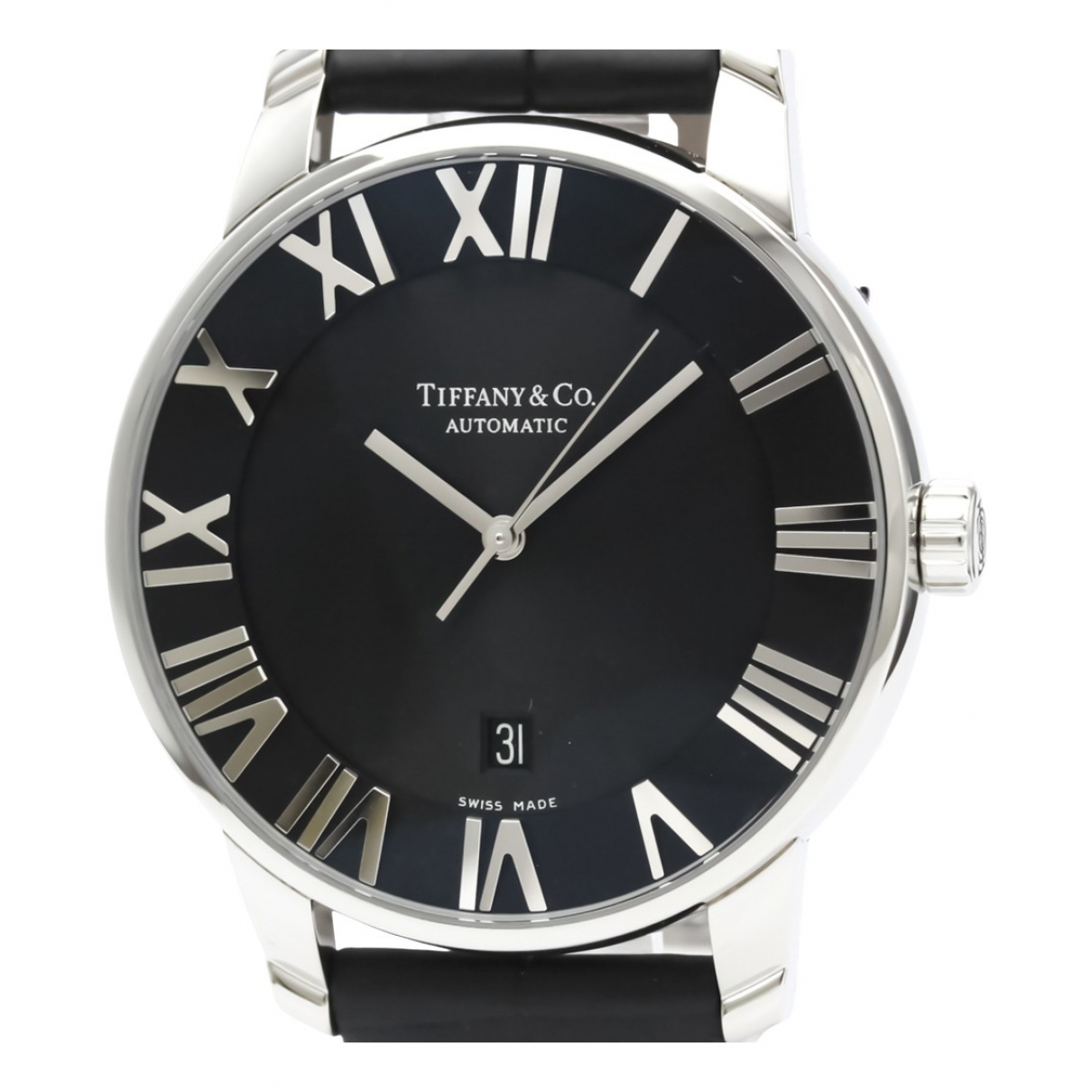 Tiffany & Co \N Black Steel watch for Men \N
