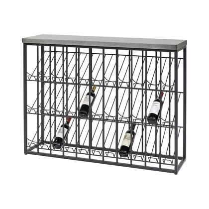3187-012 Wavertree Wine Rack  In Black And Galvanized