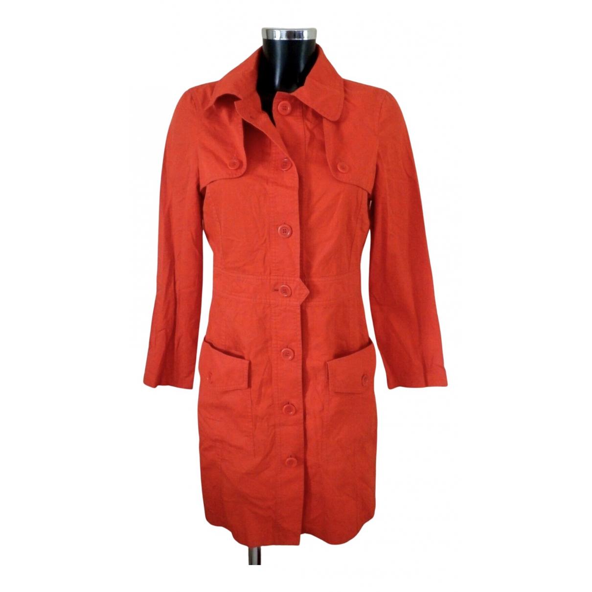 Apc - Trench   pour femme en coton - orange