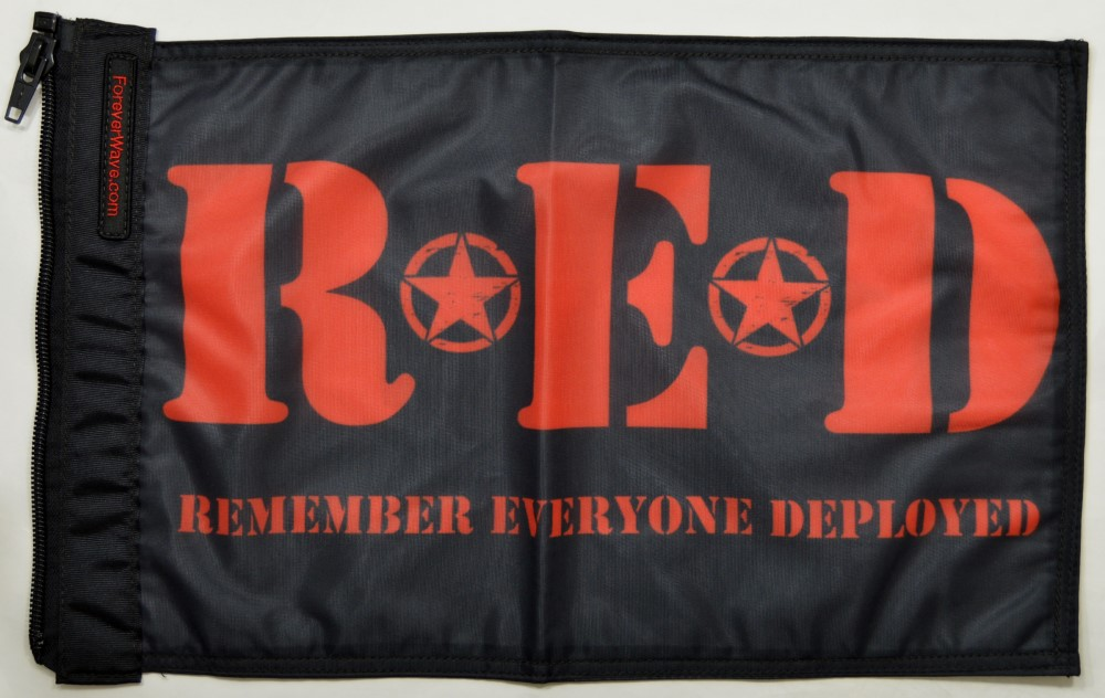 Forever Wave 5372 Remember Everyone Deployed Flag