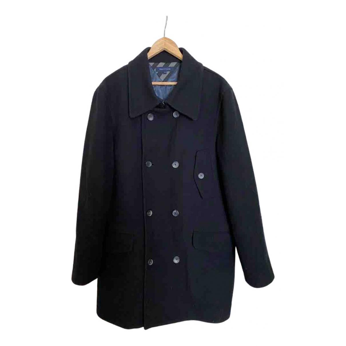Tommy Hilfiger - Manteau   pour homme en laine - marine