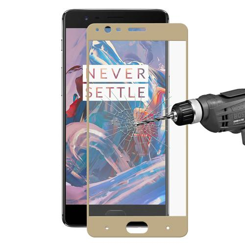 Gold OnePlus 3/3T Glass Film Screen Protector Hat-Prince 0.26 mm 2.5D Explosion-proof Membrane