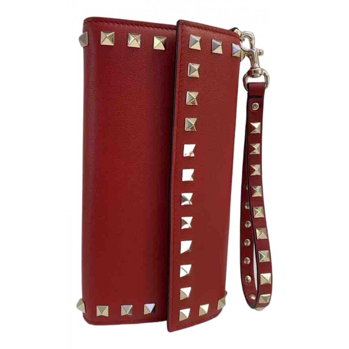 Valentino Garavani \N Portemonnaie in  Rot Leder