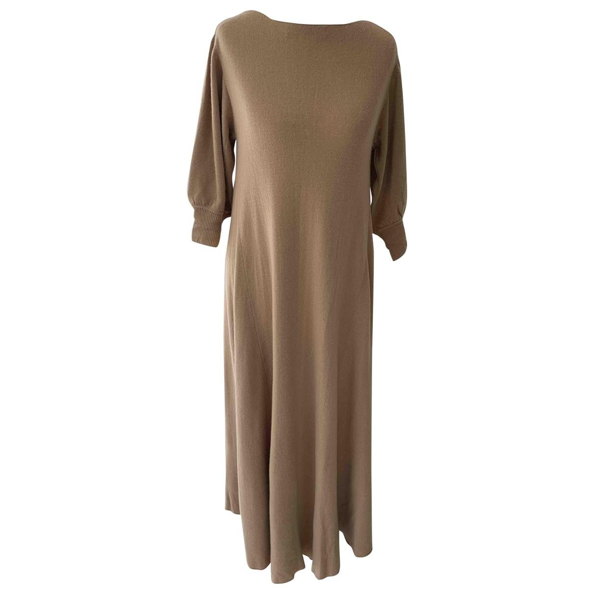 Ryan Roche \N Kleid in  Beige Kaschmir
