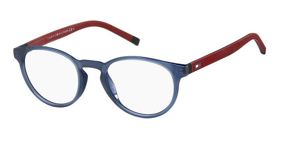 Tommy Hilfiger TH 1787 WIR Men's Glasses Blue Size 49 - Free Lenses - HSA/FSA Insurance - Blue Light Block Available