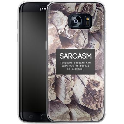 Samsung Galaxy S7 Edge Silikon Handyhuelle - Sarcasm von Statements