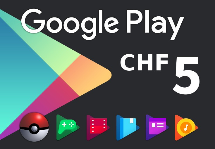 Google Play CHF 5 CH Gift Card