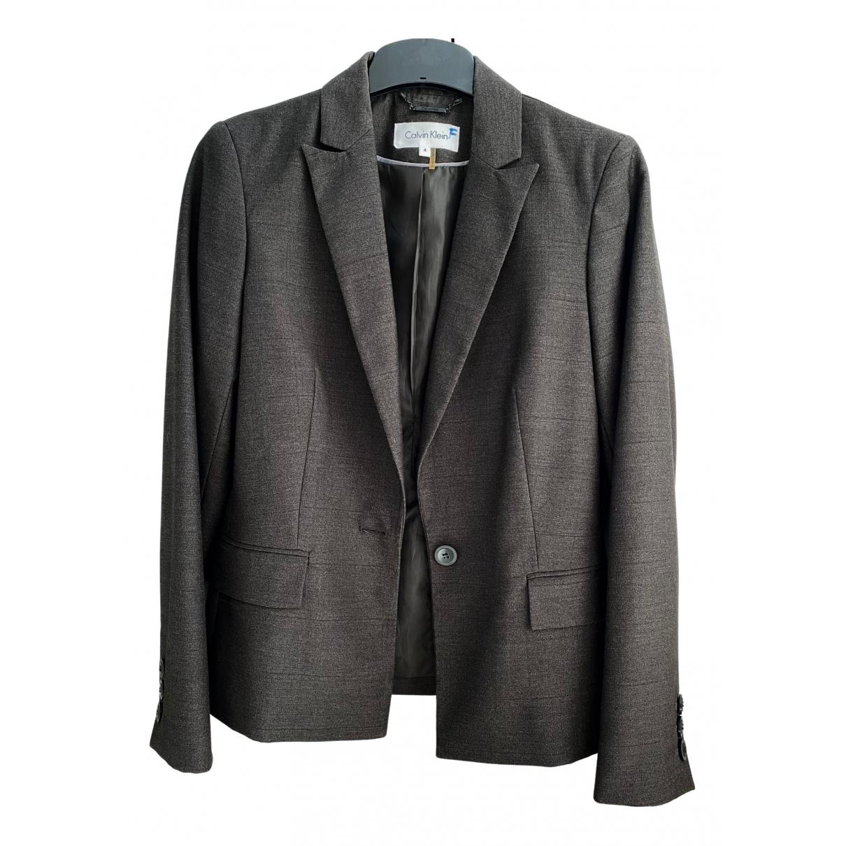 Calvin Klein \N Grey Cotton jacket for Women 36 FR
