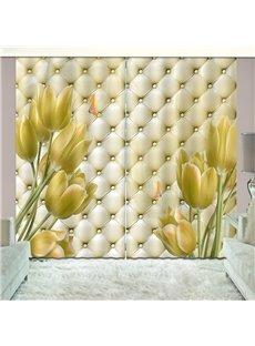 Imitated Elegant Shading Cloth 3D Printed Custom Curtain for Living Room
