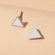 Triangle Shaped Stud Earrings