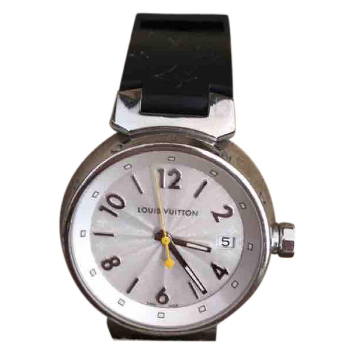 Louis Vuitton Tambour Uhr in  Silber Stahl