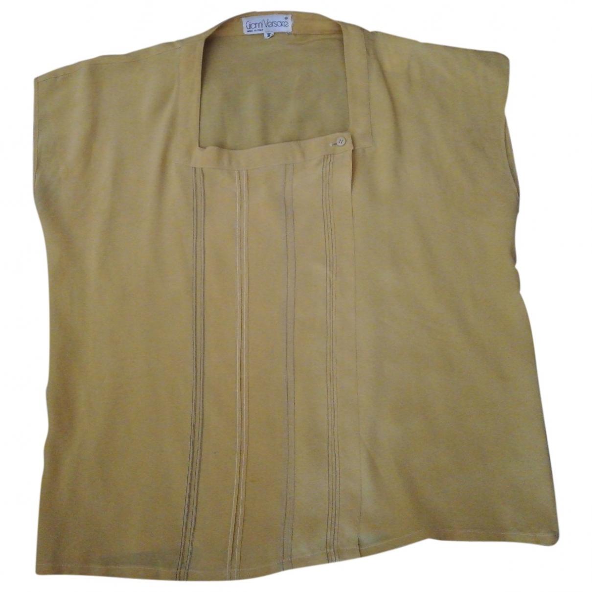 Gianni Versace \N Top in  Gelb Seide