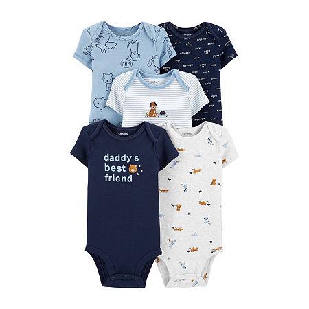 Carter's Little Baby Basic Baby Boys 5-pc. Bodysuit, Preemie , Blue