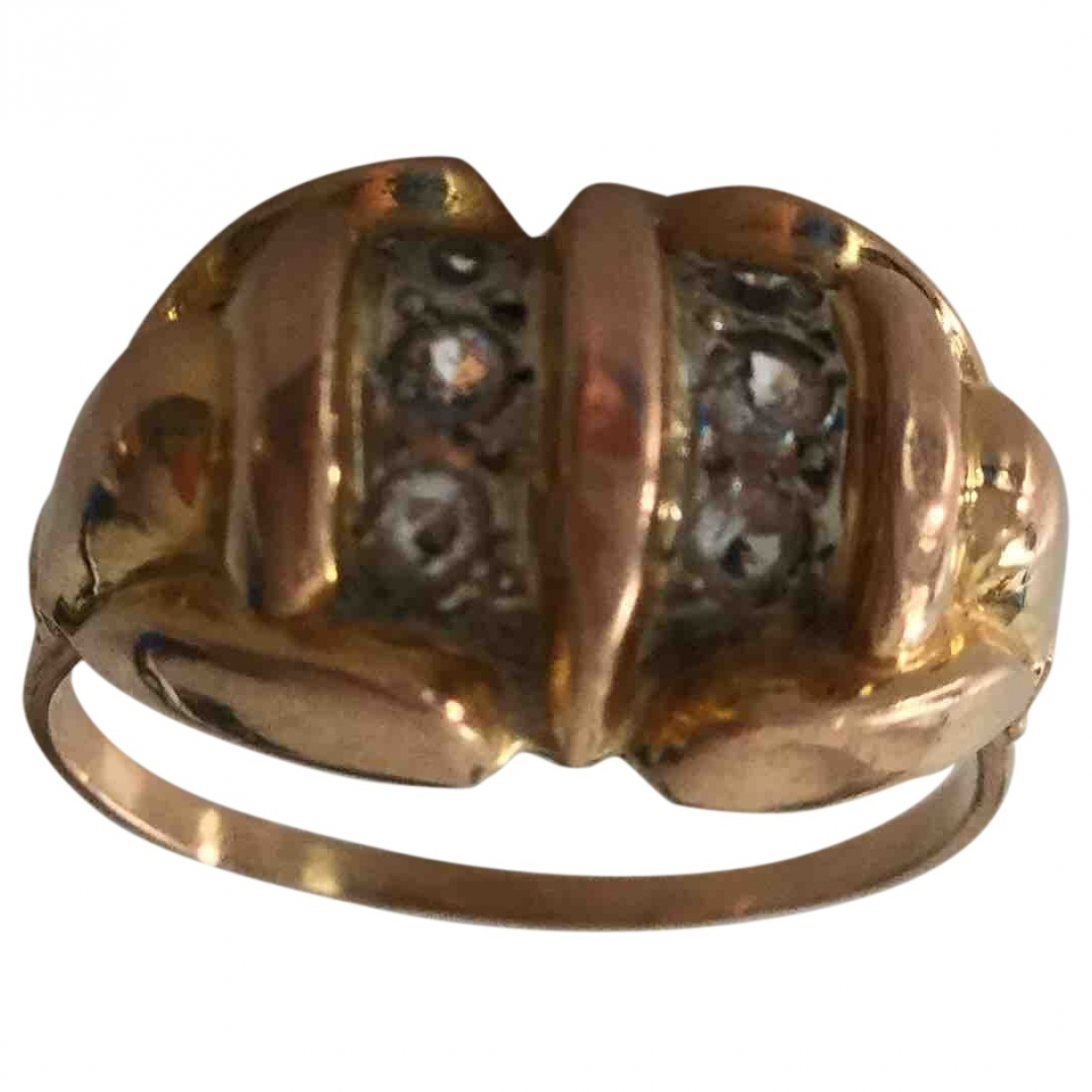 Non Signé / Unsigned Art Déco Gold Pink gold ring for Women 64 MM
