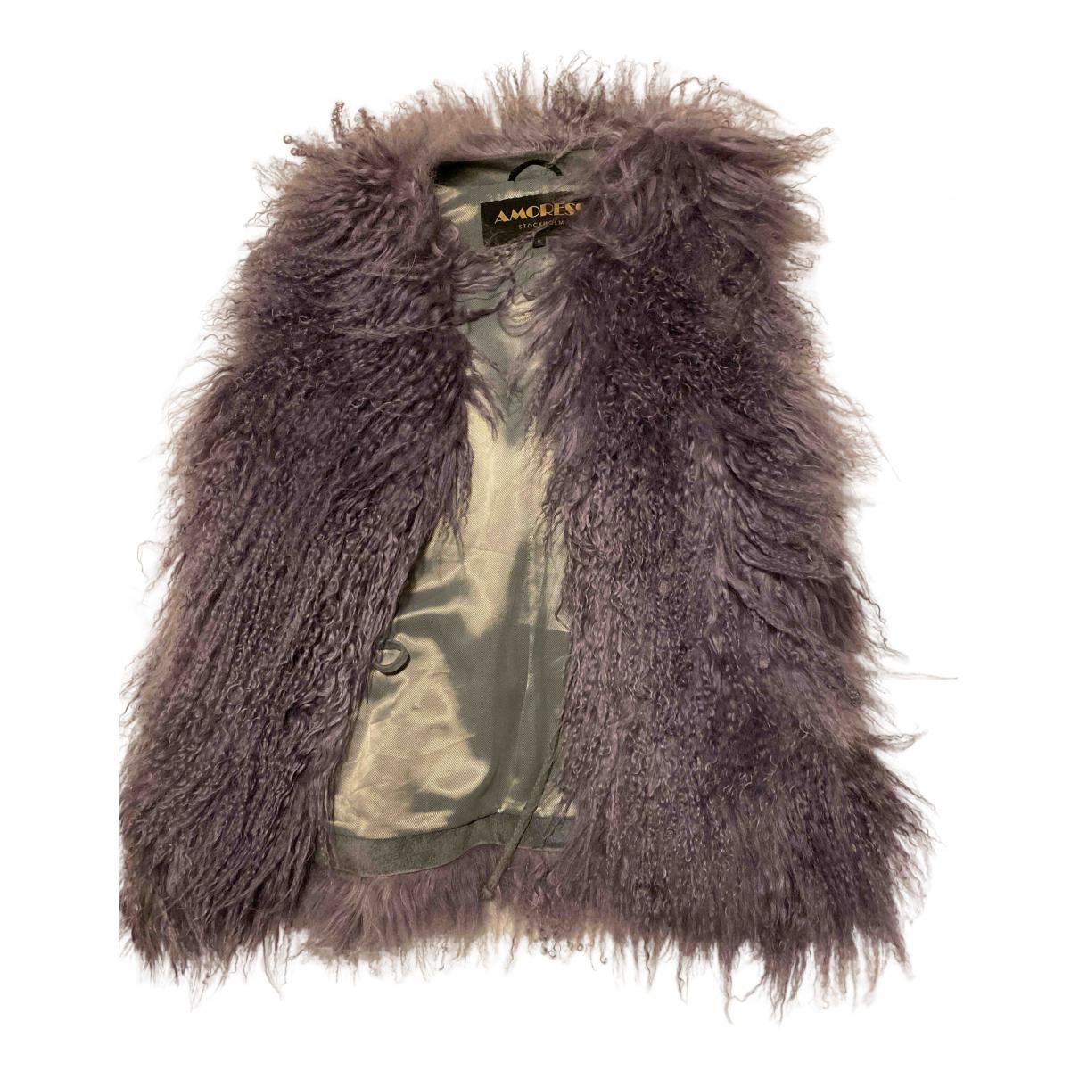 - Manteau   pour femme en mouton - violet