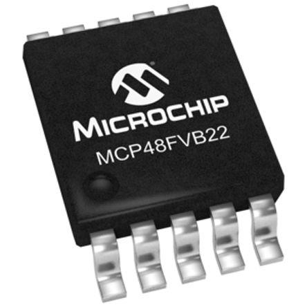 Microchip MCP48FVB22-E/UN, 2-Channel Serial DAC, 10-Pin MSOP (5)