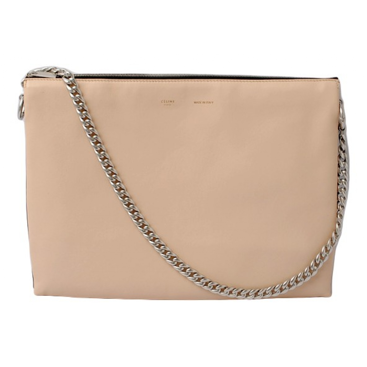 Celine Trio Beige Leather Clutch bag for Women \N