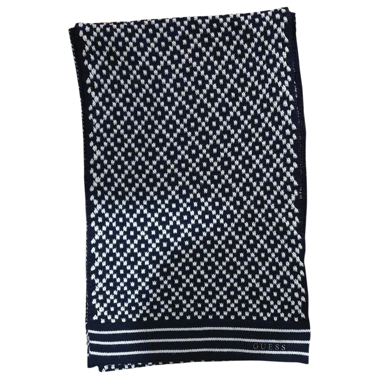 Guess - Foulard   pour femme en laine - bleu
