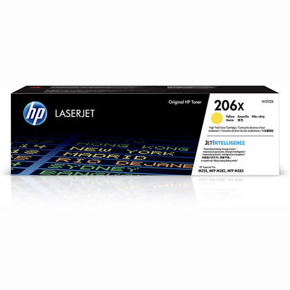 HP 206X W2112X Yellow Toner Cartridge High Yield
