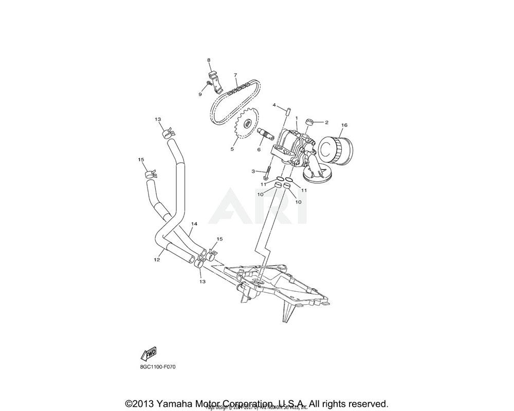 Yamaha OEM 8GJ-13464-00-00 HOSE, OIL 1