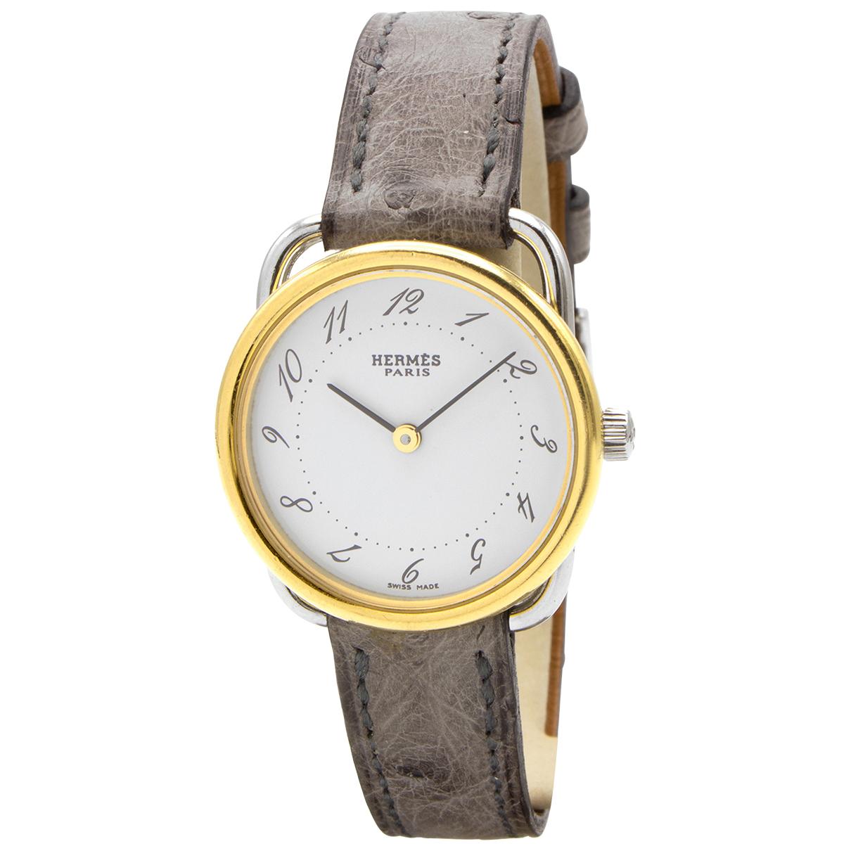 Hermes Arceau Uhr in  Gold Vergoldet