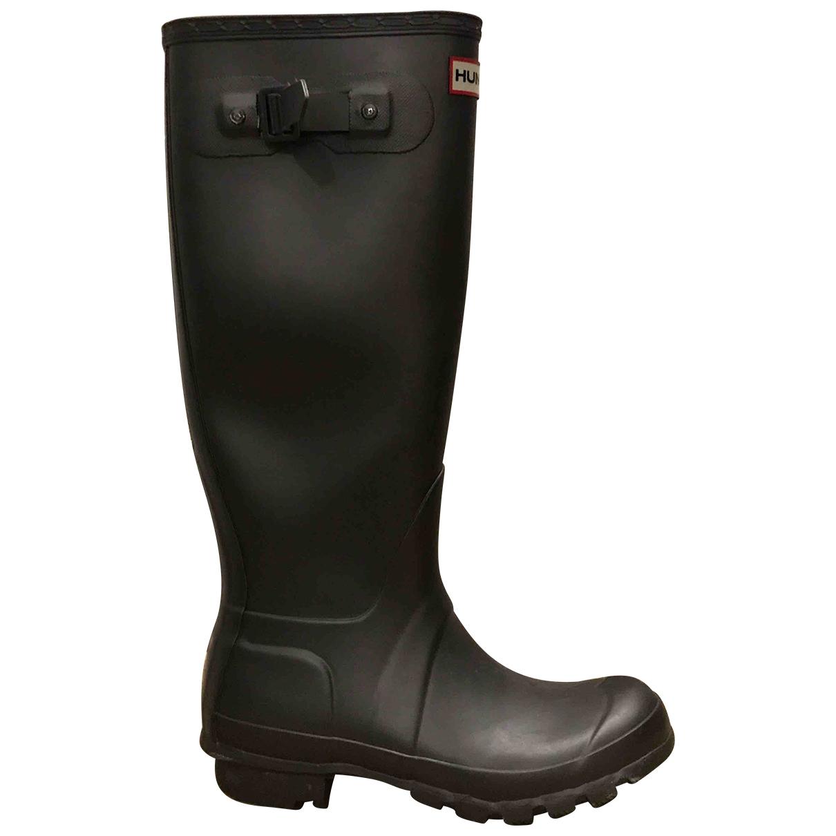 Hunter \N Grey Rubber Boots for Women 37 EU