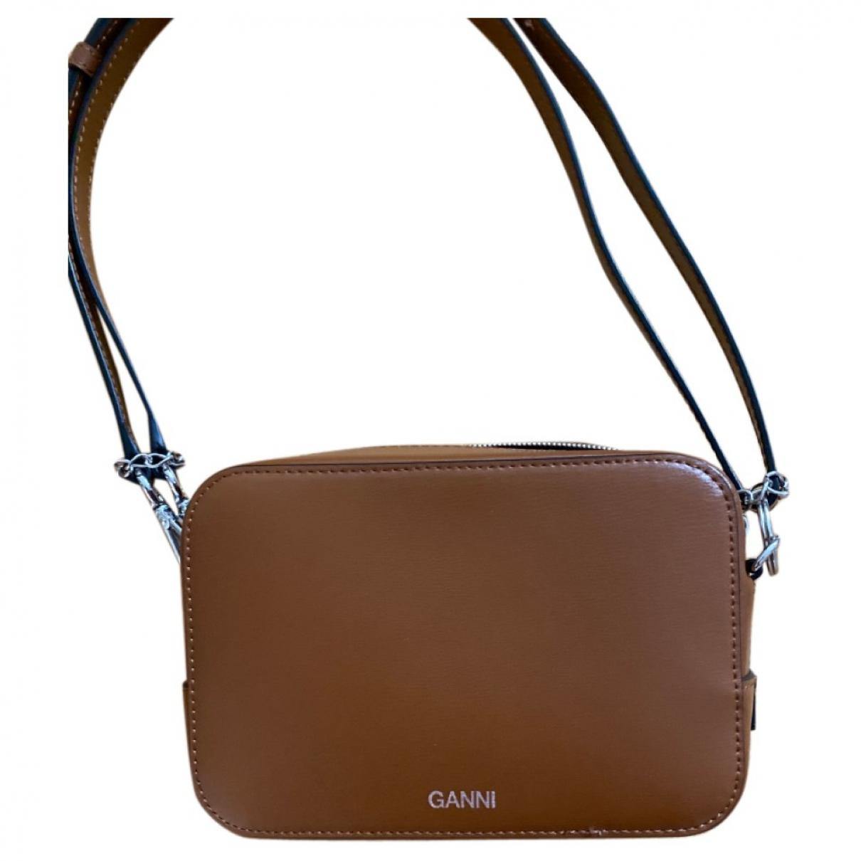 Ganni \N Handtasche in  Braun Leder