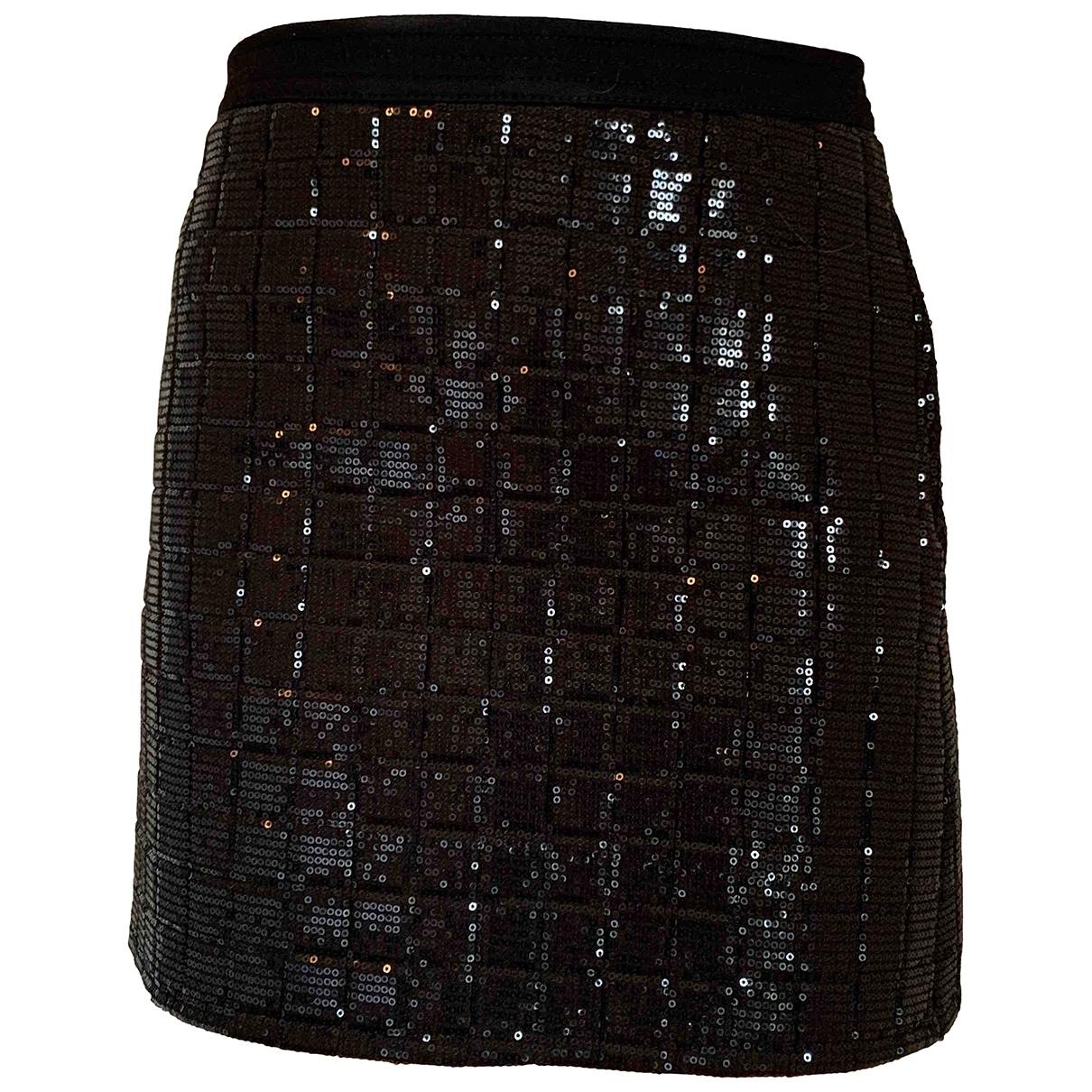 Karl Lagerfeld \N Black Glitter skirt for Women 36 FR