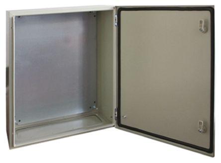 RS PRO Steel Wall Box, IP66, 210mm x 600 mm x 600 mm, Grey
