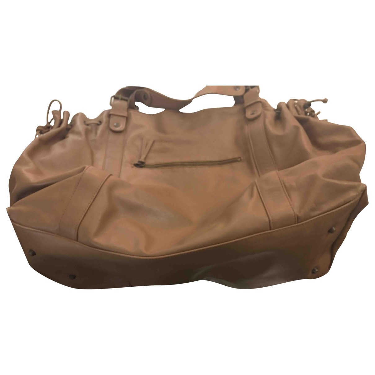 Gerard Darel \N Camel Leather handbag for Women \N