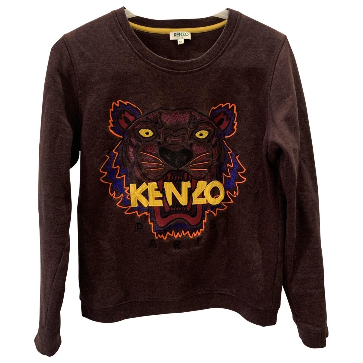 Kenzo - Pull   pour femme en coton - bordeaux