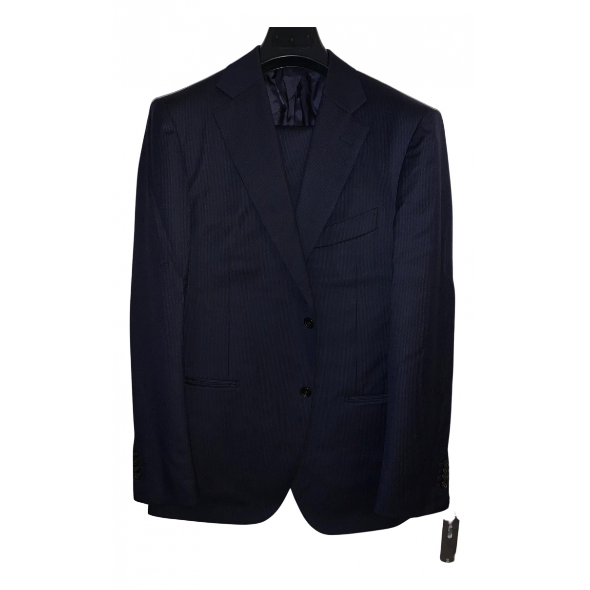 Suitsupply \N Anzuege in  Marine Wolle