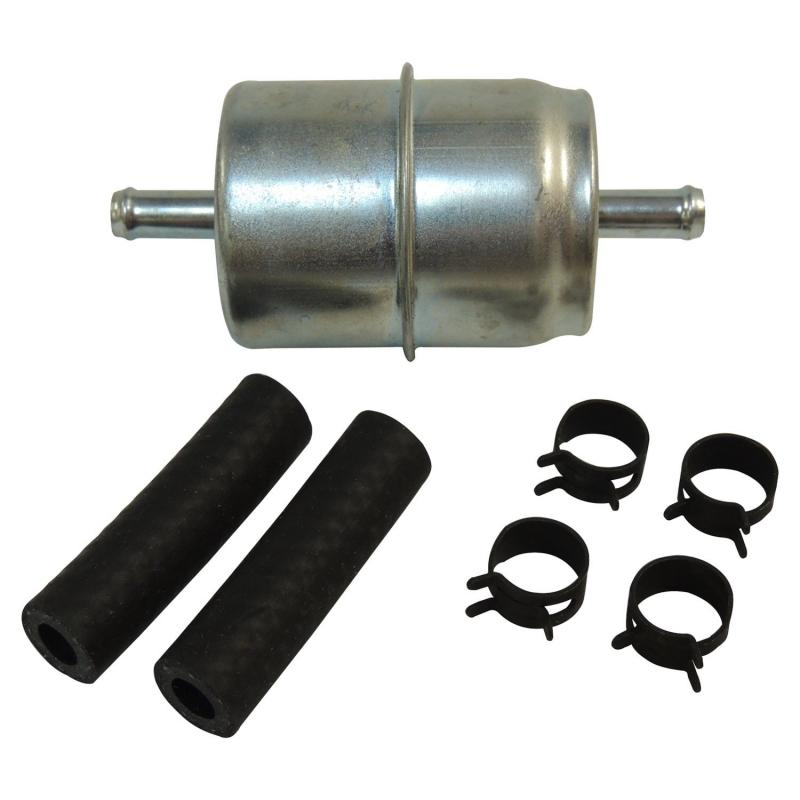 Crown Automotive J8992638 Jeep Replacement Fuel Filter Kit; INCL. FUEL FILTER, HOSE & CLAMPS; Single Inlet, Single Outlet Jeep