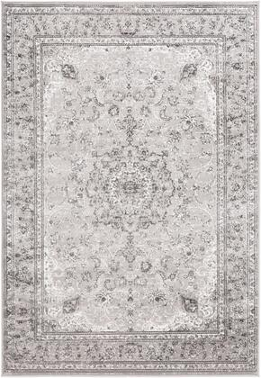 Monte Carlo MNC-2321 53 x 73 Rectangle Traditional Rug in Light Gray  Charcoal
