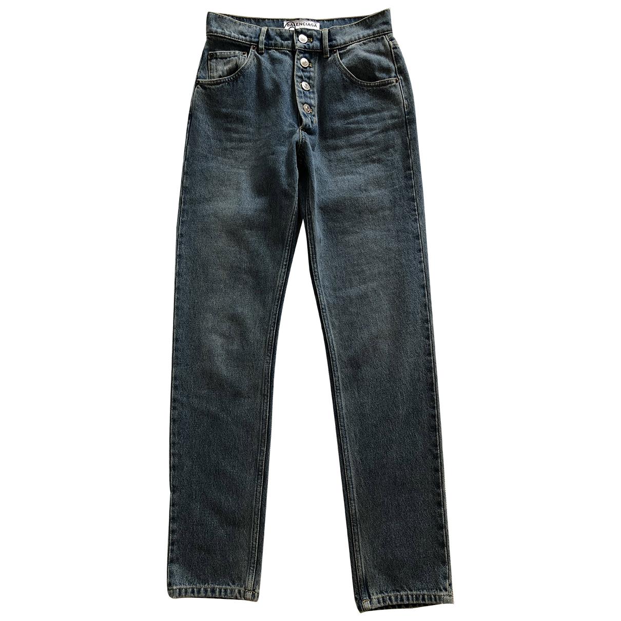 Balenciaga \N Blue Cotton Jeans for Women 36 FR