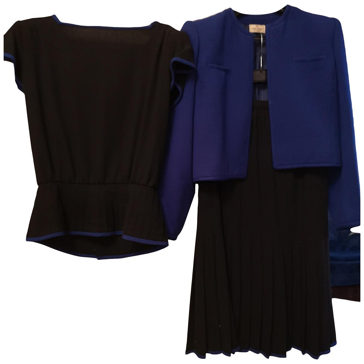 Valentino Garavani \N Black Wool dress for Women 44 IT