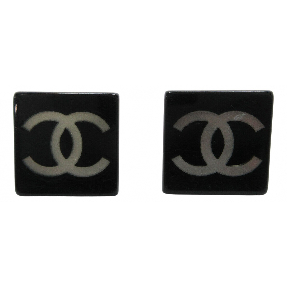 Chanel CC OhrRing in Kunststoff