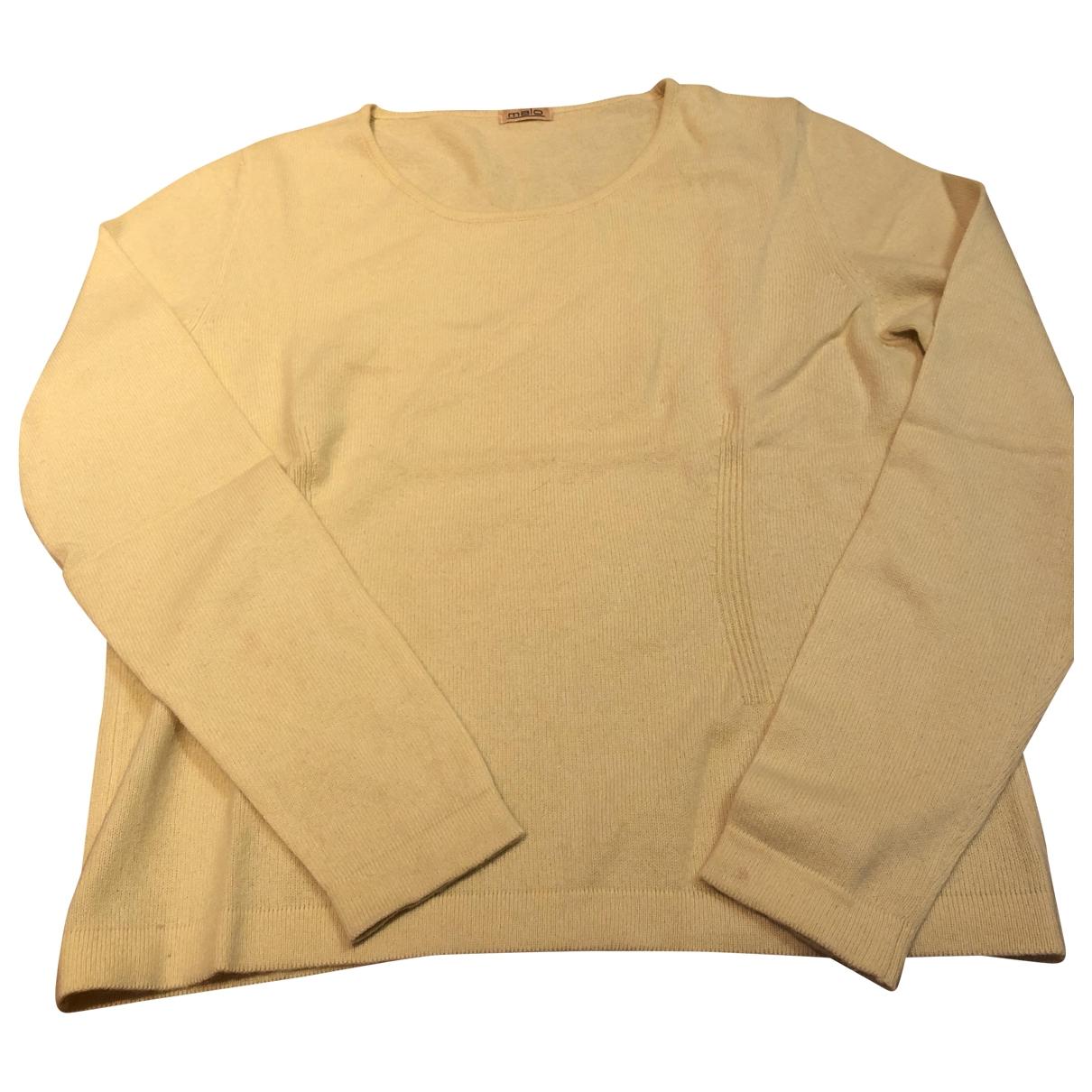 Malo \N Pullover in  Gelb Kaschmir