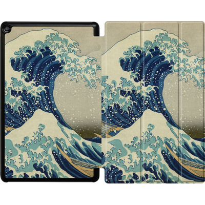 Amazon Fire HD 10 (2017) Tablet Smart Case - Great Wave Off Kanagawa By Hokusai von caseable Designs