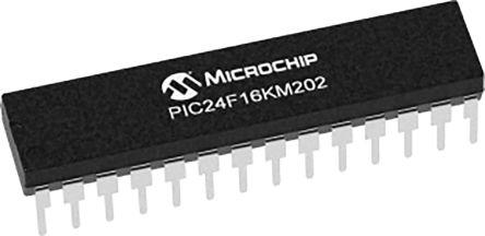 Microchip PIC24F16KM202-I/SP, 16bit PIC Microcontroller, PIC24F, 32MHz, 16 kB Flash, 28-Pin SPDIP (15)