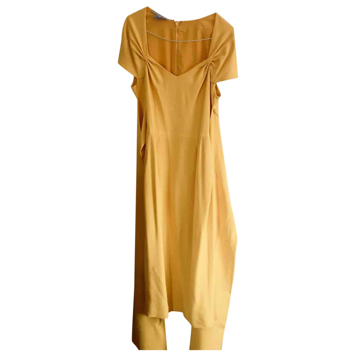 Stella Mccartney \N Kleid in  Gelb Synthetik