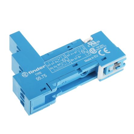 Finder Relay Socket, 250V ac for use with 40.52, 40.61, 44.52, 44.62, 40.51 Series Relay