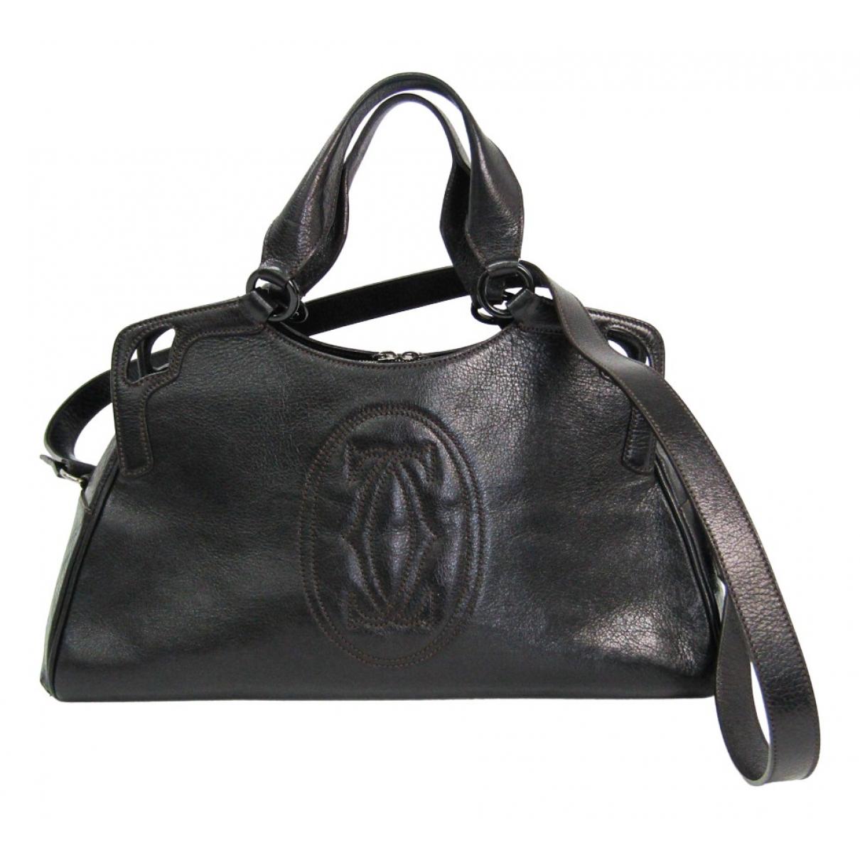 Cartier Marcello Black Leather handbag for Women N