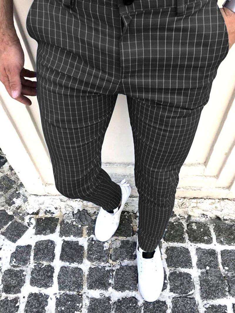 Ericdress Plaid Pencil Pants Four Seasons Casual Pants