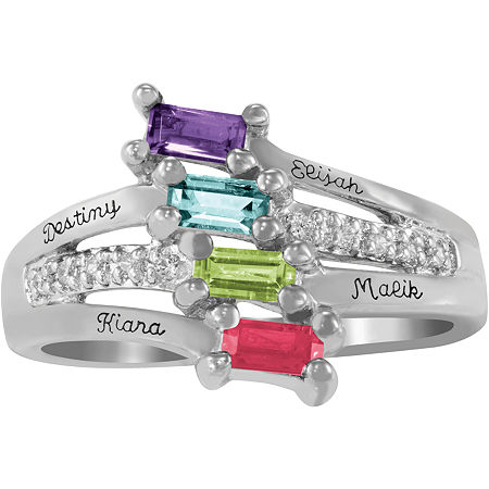 Artcarved Celebrations Of Life Multi Color Stone 10K White Gold Band, 11 , No Color Family